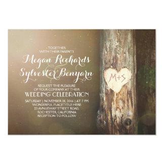 invitación de madera rústica del boda del país del invitación 12,7 x 17,8 cm