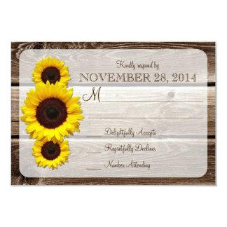 Invitación de madera rústica RSVP1.0 del boda del