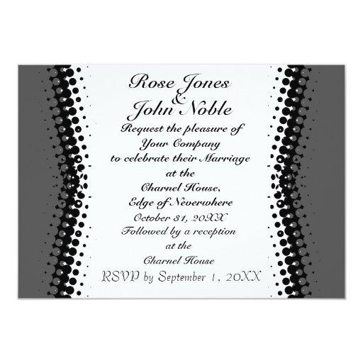 Invitación de marfil del boda de la penumbra