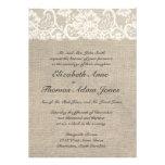 Invitación de marfil del boda del cordón y de la a