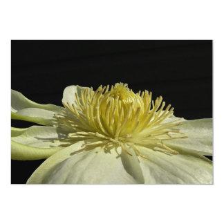 Invitación de marfil del boda del flor del