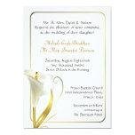 Invitación de marfil tradicional del boda de la