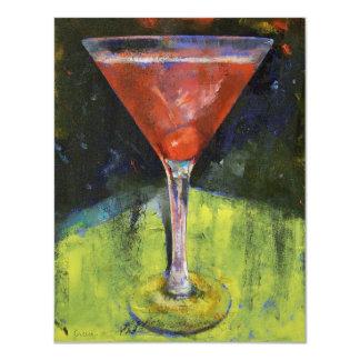 Invitación de Martini de la cereza