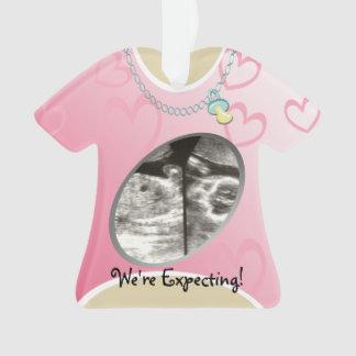 Invitación de maternidad del bebé del rosa de la