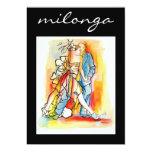 Invitación de Milonga del tango Invitación 12,7 X 17,8 Cm