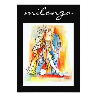 Invitación de Milonga del tango