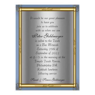 Invitación de Mitzvah de la barra Invitación 16,5 X 22,2 Cm