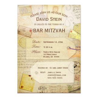 Invitación de Mitzvah de la barra con un tema del