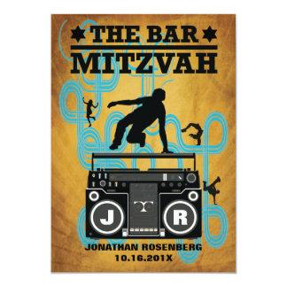 Invitación de Mitzvah de la barra de Hip Hop
