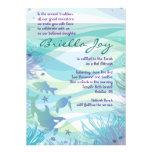 Invitación de Mitzvah de la barra de la ballena y
