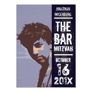 Invitación de Mitzvah de la barra de la banda de Invitación 12,7 X 17,8 Cm
