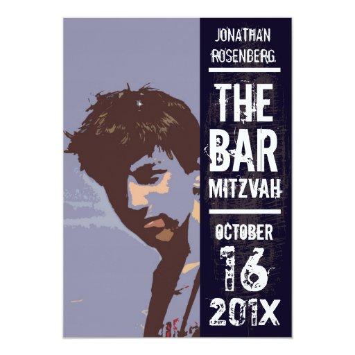 Invitación de Mitzvah de la barra de la banda de
