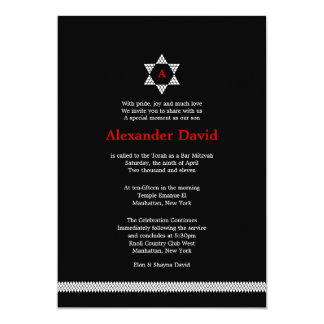 Invitación de Mitzvah de la barra de la estrella