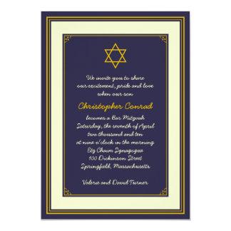 Invitación de Mitzvah de la barra de la marina de