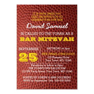 Invitación de Mitzvah de la barra de oro de