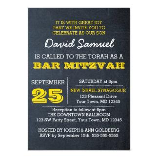 Invitación de Mitzvah de la barra de oro de la