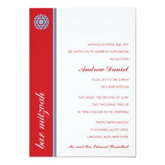 Invitación de Mitzvah de la barra de Simcha Invitación 12,7 X 17,8 Cm