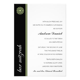 Invitación de Mitzvah de la barra de Simcha