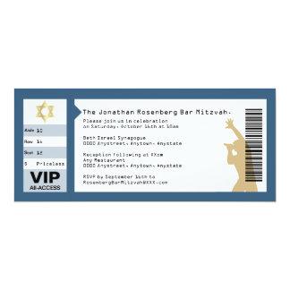 Invitación de Mitzvah de la barra del boleto del Invitación 10,1 X 23,5 Cm