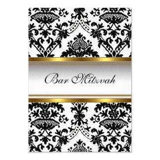 Invitación de Mitzvah de la barra del damasco