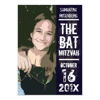 Invitación de Mitzvah del palo de la banda de rock Invitación 12,7 X 17,8 Cm
