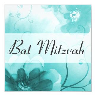 Invitación de Mitzvah del palo del azul cerúleo Invitación 13,3 Cm X 13,3cm