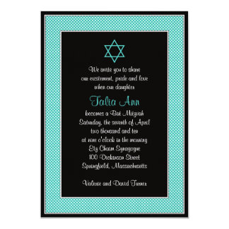 Invitación de Mitzvah del palo del lunar del negro