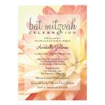 Invitación de Mitzvah del palo rosado y anaranjado