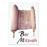 Invitación de Mitzvah Torah de la barra