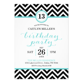 Invitación de moda de la fiesta de cumpleaños de C