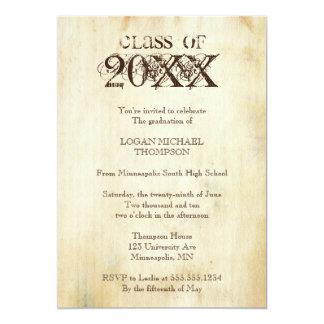 Invitación de moda de la fiesta de graduación del invitación 12,7 x 17,8 cm