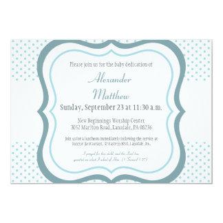 Invitación de moda del bautizo del esmero del bebé invitación 12,7 x 17,8 cm