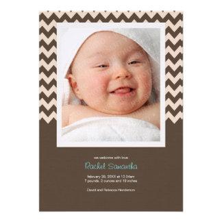 Invitación de moda del nacimiento de la niña de Ch