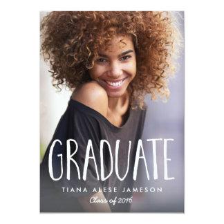 Invitación de moda manuscrita de la graduación de