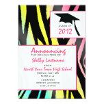 Invitación de neón 2012 de la graduación de la