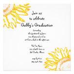 Invitación de neón amarilla de la fiesta de gradua