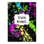 Invitación de neón retra fresca del fiesta de la invitación 12,7 x 17,8 cm