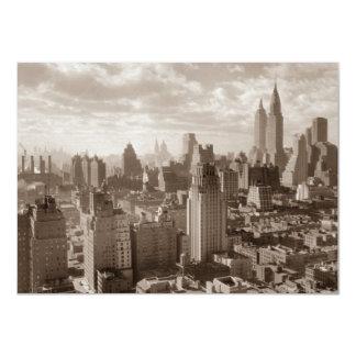 Invitación de New York City de la sepia