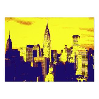 Invitación de New York City del arte pop