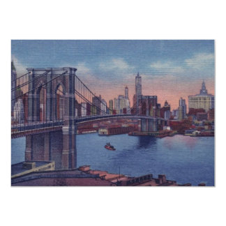 Invitación de New York City del vintage