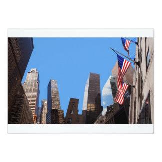 Invitación de Nueva York de los rascacielos