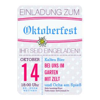 Invitación de Octoberfest minimalistic