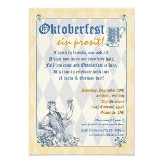 Invitación de Oktoberfest Invitación 12,7 X 17,8 Cm