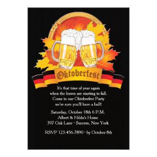 Invitación de Oktoberfest de la caída