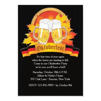 Invitación de Oktoberfest de la caída Invitación 12,7 X 17,8 Cm