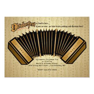 Invitación de Oktoberfest del acordeón