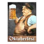 Invitación de Oktoberfest del alemán del vintage