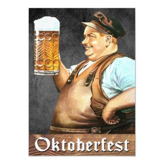 Invitación de Oktoberfest del alemán del vintage Invitación 11,4 X 15,8 Cm
