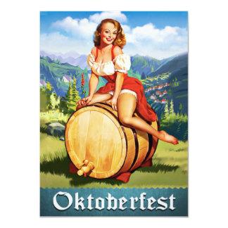 Invitación de Oktoberfest del vintage