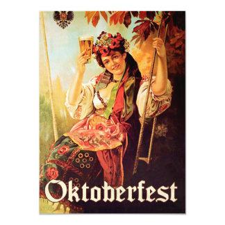 Invitación de Oktoberfest del vintage Invitación 11,4 X 15,8 Cm